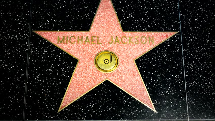 HOLLYWOOD, CA/USA - APRIL 18, 2015: Michael Jackson star on the Hollywood walk of fame.