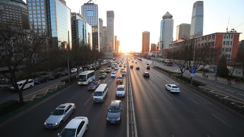 Traffic in Beijing/traffic in Beijing/traffic in Beijing | Shutterstock HD Video #10026257