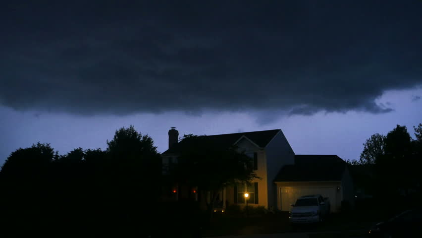 Thunderstorm at Neighborhood Time Lapse | Shutterstock HD Video #10062500