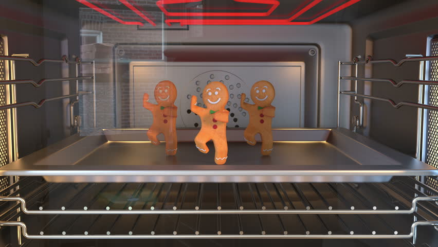Gingerbread man Dancers. Cozy Light. 3D animation of funny, hot and sweet cookie boy dancing for holiday and kid event, show, VJ, party, music, website, banner, dvd  #1006567297