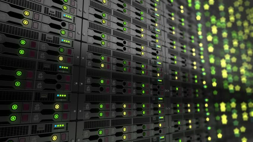 Modern datacenter. Cloud computing. 3d rendering   Shutterstock HD Video #1006625287