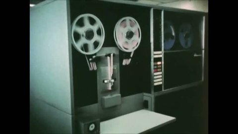 CIRCA 1963 - Data from a Titan II flight is processed at Patrick Air Force Base.