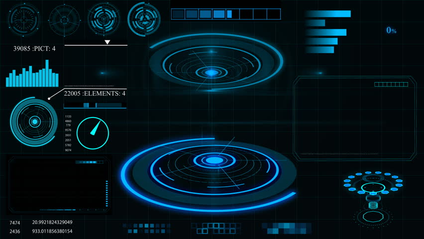 Future concept virtual touch user interface HUD with graphs, Infographic elements, hologram . Interactive screen | Shutterstock HD Video #1006671757