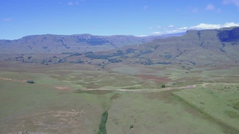 Helicopter ride over the Drakensberg Mountain Range