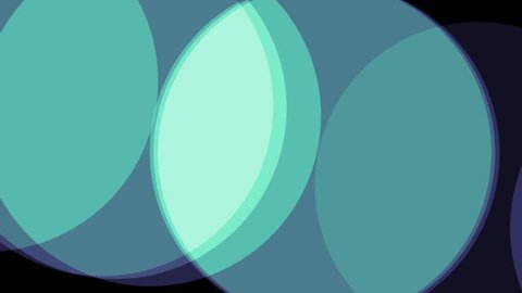 circles soft pastel green colors shape abstract background animation New quality retro vintage universal motion dynamic animated colorful joyful dance music video footage loop