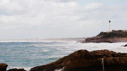 biarritz blue ocean beach france