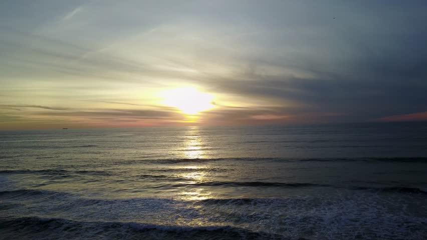 San Diego Beach Sunset Drone | Shutterstock HD Video #1006830487