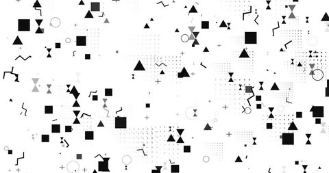 abstract background lines cubes dots white black