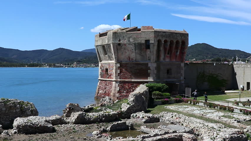 Martello tower in Portoferraio on the Island of Elba