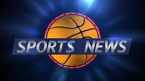 Sports News. Dynamic Title and Background Plate