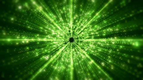 Video animation green light beams - abstract backgound