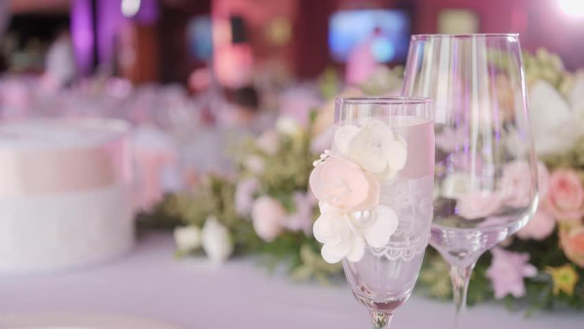 Set footage - Pink wedding