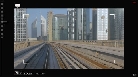 Sci fi is a custom futuristic viewfinder interface for photo and video cameras, a high-tech spacecraft. HUD.