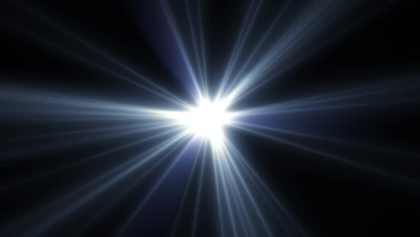 center flickering star blue sun lights optical lens flares shiny animation art background loop new quality natural lighting lamp rays effect dynamic colorful bright video footage