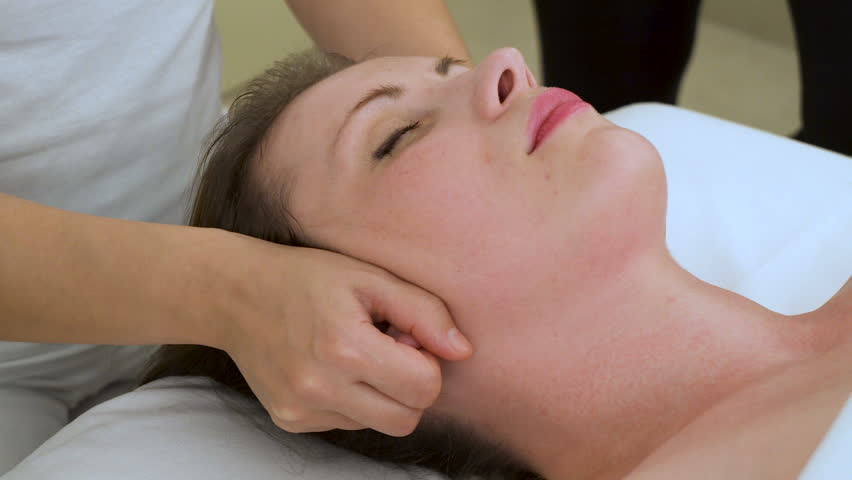 Acupressure facial massage the girl next