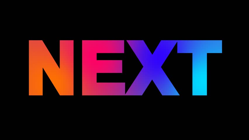 Text NEXT multi-colored appear then disappear under the lightning strikes changing color. Alpha channel Premultiplied - Matted with color black | Shutterstock HD Video #1007290987