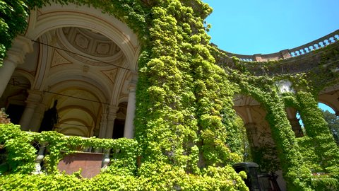 Mirogoj Cemetery with the Church of King Christ in Zagreb, Croatia, Europe.