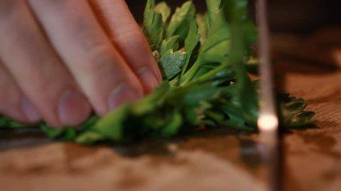 Food fresh stalks of Celery peeling Culinary delicious food being prepared
