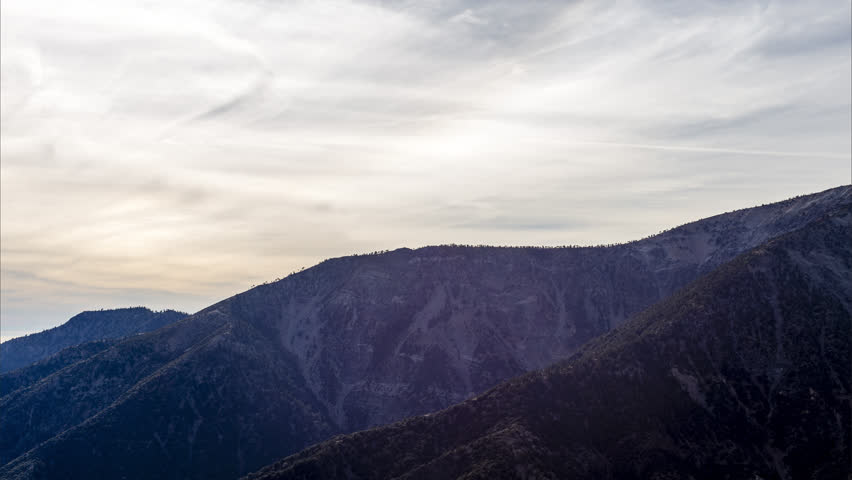 Time lapse of view from angeles crest in los angeles | Shutterstock HD Video #1007501998