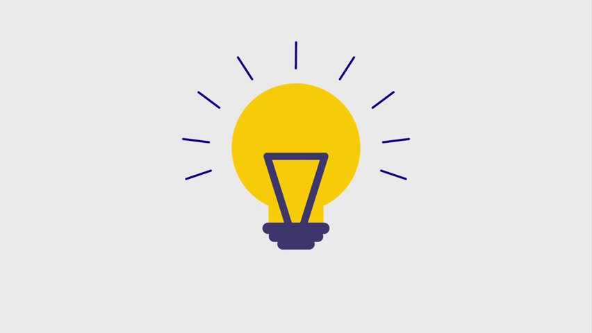 Lit lightbulb icons | Shutterstock HD Video #1007541907
