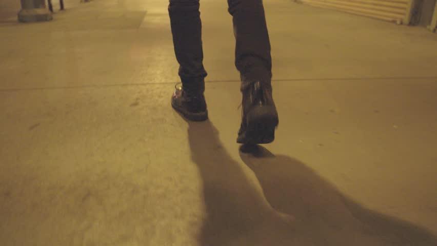 Walking in downtown los angeles | Shutterstock HD Video #1007625748