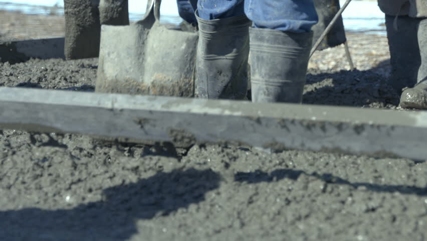 Concrete Slab - trowel a smooth finish | Shutterstock HD Video #1007720317