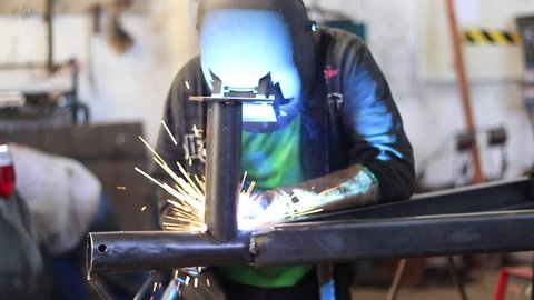 A jet ski trailer being made by a good welder using mig machines