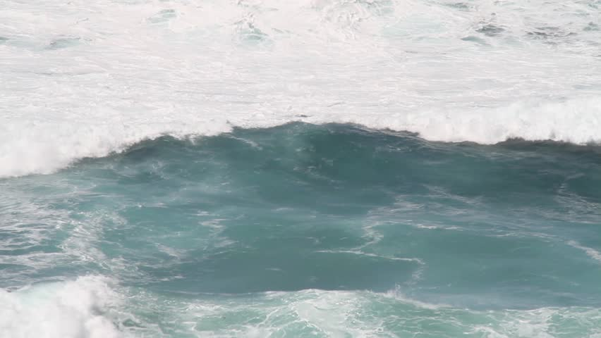 Argentiera, Sardinia, Italy. Mediterranean Sea. Waves force