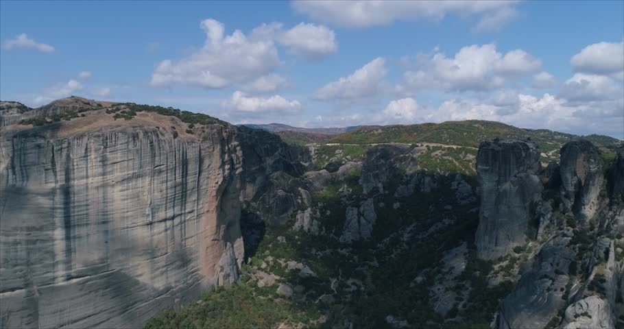 Aerial view on Meteora Greece