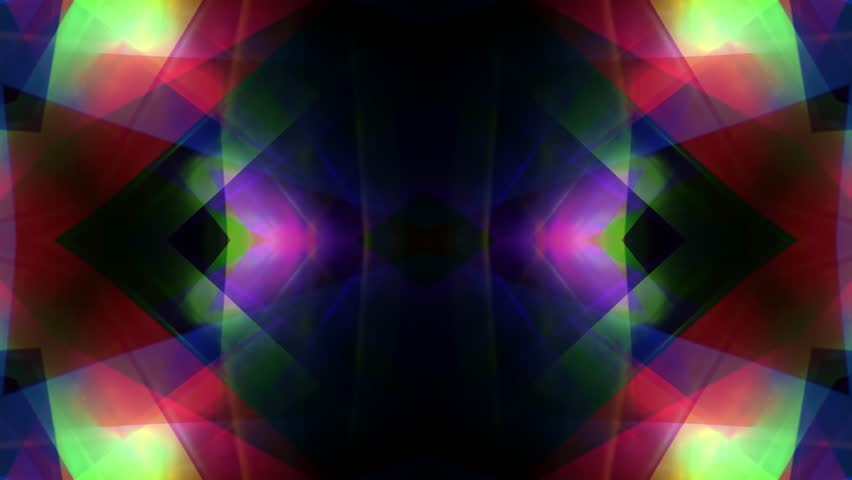 Ornamental kaleidoscope soft crystal abstract animation seamless loop background  | Shutterstock HD Video #1007802427