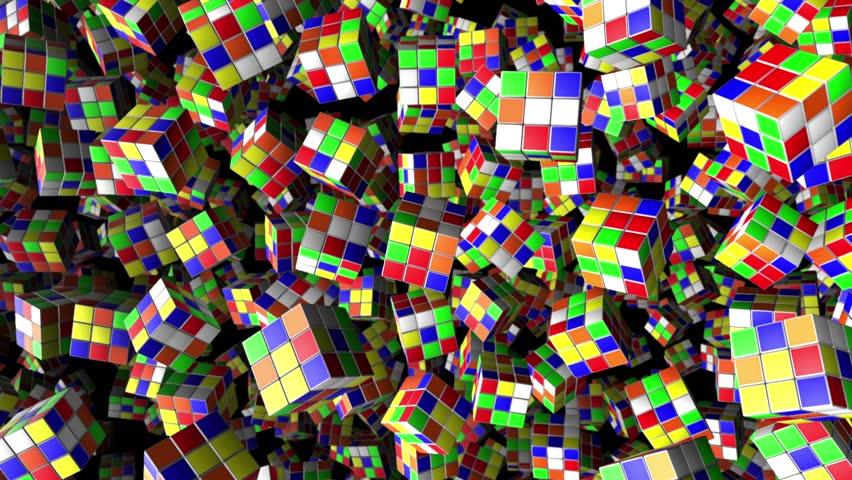 Rubik's Cube Animation Background Loop