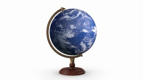 the earth model rotates around its axis,Loop, Animation, Alpha Channel
