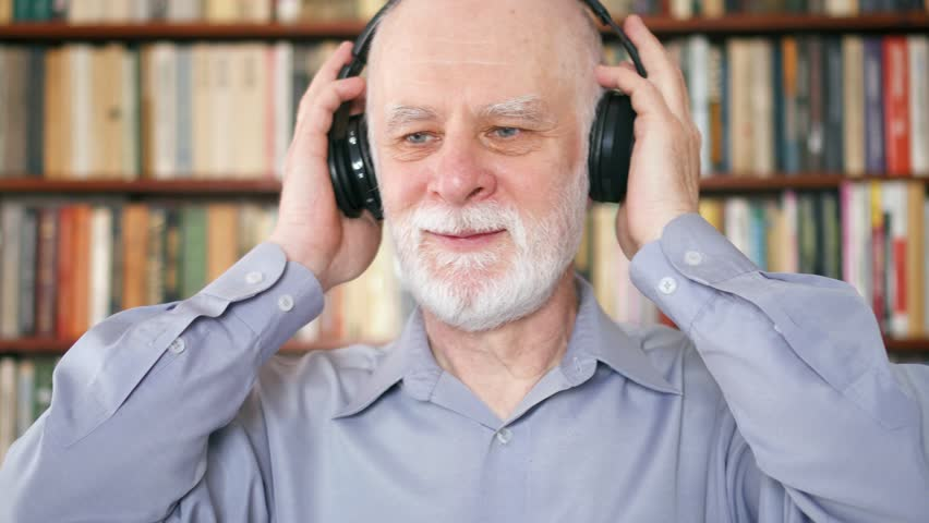 Cheerful Funny Senior Man Listening Stock Footage Video 100 Royalty Free 1007908237 Shutterstock