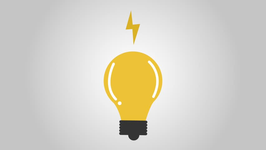 Lightbulb with rays icons | Shutterstock HD Video #1007912347