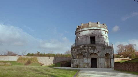 timelapse shot of The Mausoleum of Theoderic in Ravenna