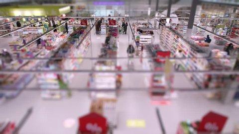 Timelapse grocery supermarket