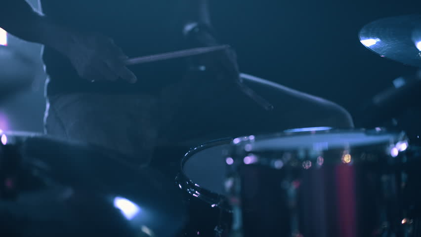Closeup of Man Playing Drums