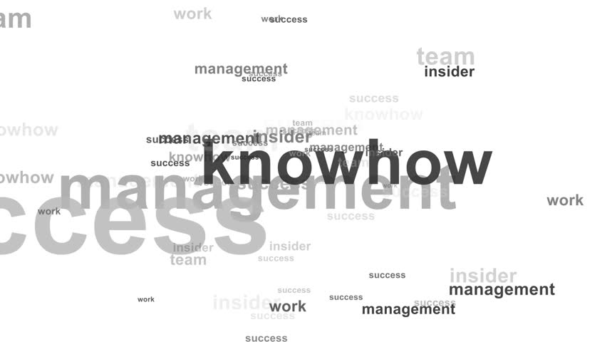 Word cloud / tag cloud / text array - business (more than 30 business words, spreading animation) white background - black and grey words