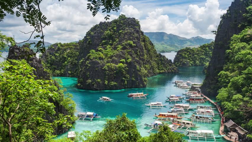 Coron Island Palawan Philippines Time Arkivvideomateriale 100 Royalty Fritt 1008113437 Shutterstock