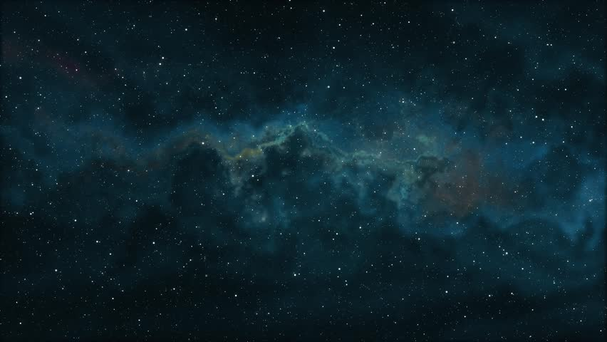 soft moving nebula space stars night sky animation background new quality nature scenic school cool education colorful light video footage #1008234397
