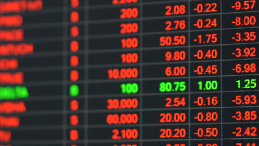Economic crisis - Red stock market price board chart showing economic crisis of world stock. Bad economy and negative price down stock market situation. Traders are panic and selling their stock. | Shutterstock HD Video #1008278047