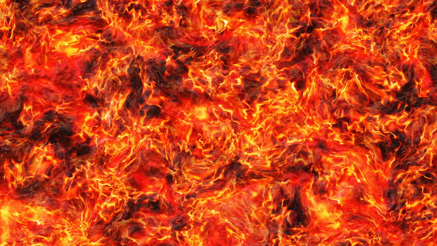 heat red fire lava of eruption volcano  #1008289327