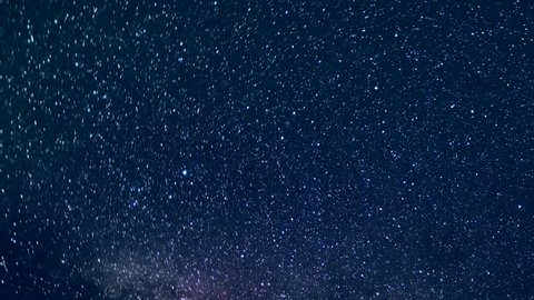 Time Lapse Beautiful Starry Movement In The Night Sky, Perseid Meteor Shower, Time Lapse Mojave Desert, Star Time, universe galaxy moving across.