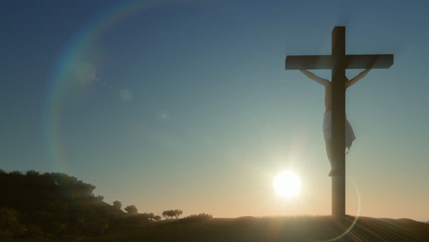Jesus cross,beautiful sunrise #1008329737