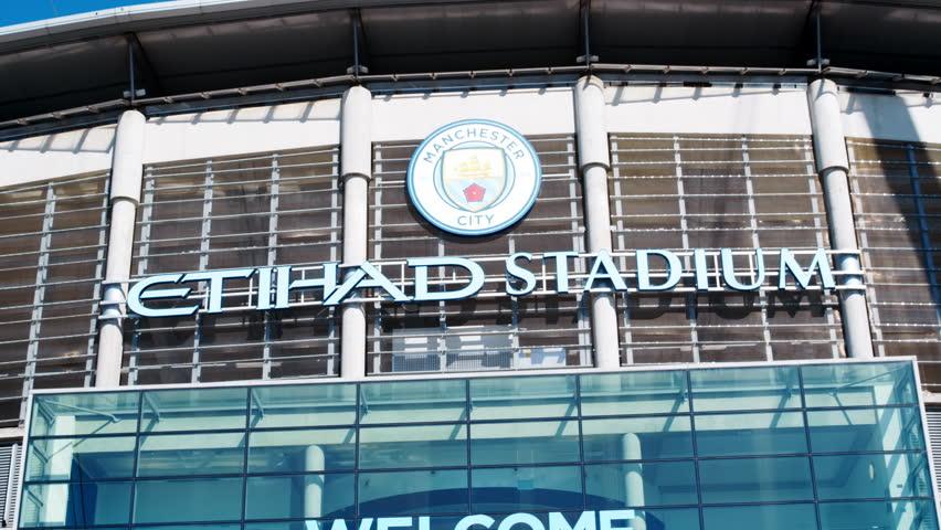 Manchester,UK - 4 May 2017: Exterior Of Etihad Football Stadium In Manchester