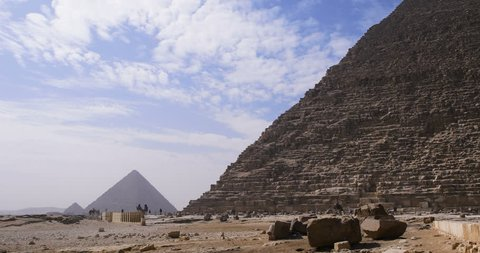 Egyptian Pyramids with horses