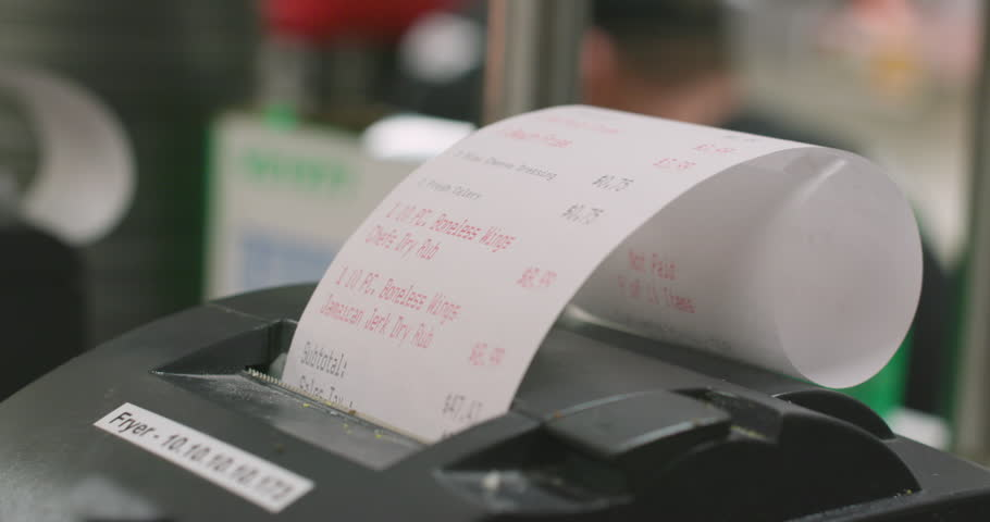 Printing Order Receipt Tickets in Restaurant Kitchen