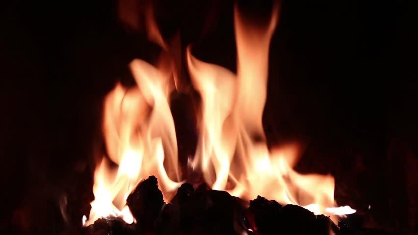 A freehand shot of a glowing open fire | Shutterstock HD Video #1008526957