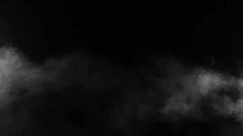 Slow motion of realistic smoke effect on black background