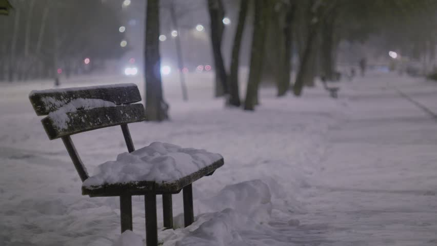 Snow falling in the city | Shutterstock HD Video #1008593827